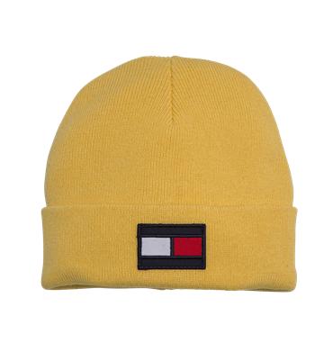 Tommy Hilfiger Big Flag Beanie Aspen Gold