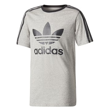 Adidas Tee 3 Stripes Grey / Black BQ3944