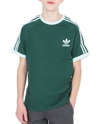 Adidas 3 Stripes Tee EJ9381 Collegiate Green/White