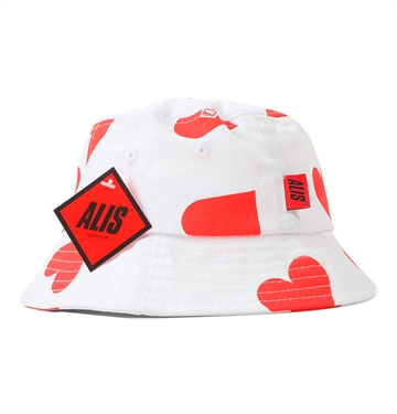 Alis Lovers Bucket Hat White