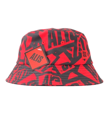 Alis Sticker Game Bucket Hat Red
