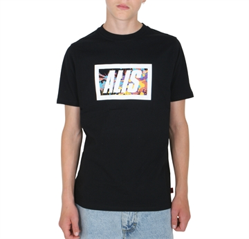 Alis Spatter Box Logo T-shirt Black