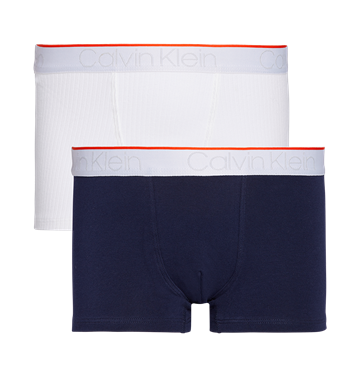 Calvin Klein Boys 2PK Trunks White/Blueshadow
