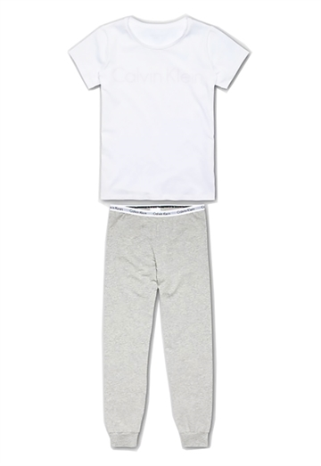 Calvin Klein Girls PJ Set white / grey