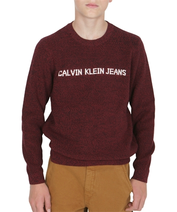 Calvin Klein Boys Mixed Yarn Sweat XCE Rumba Red