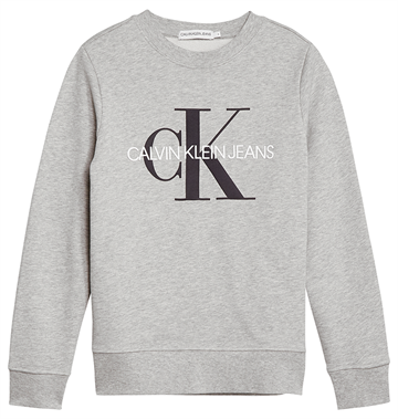 Calvin Klein Unisex Monogram Logo Sweat Grey Heather