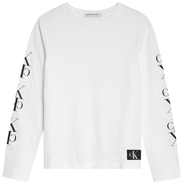 Calvin Klein Colour Mirror Monogram l/s Tee Bright White