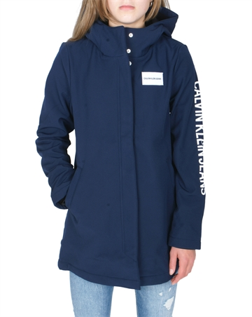 Calvin Klein Girls Hooded Parka Peacoat G00059