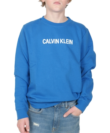 Calvin Klein Sweatshirt Logo Brushed Nautical Blue 00009