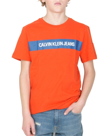 Calvin Klein T-shirt Box Logo 00029 Orange.Com