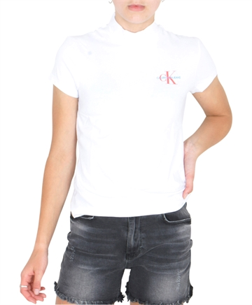 Calvin Klein T-shirt Mock neck white