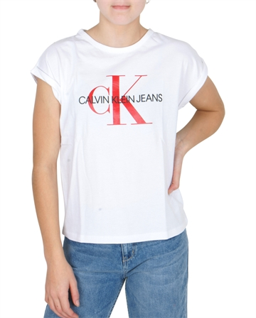 Calvin Klein T-shirt Loose Fit Monogram Logo White 00143