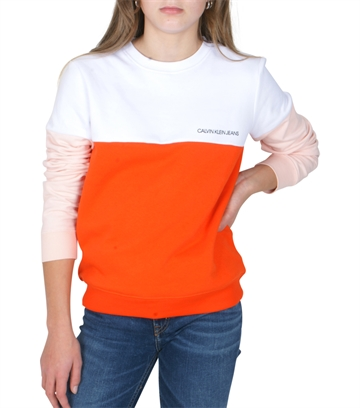 Calvin Klein Girls Sweatshirt ColorBlock Orange G00019