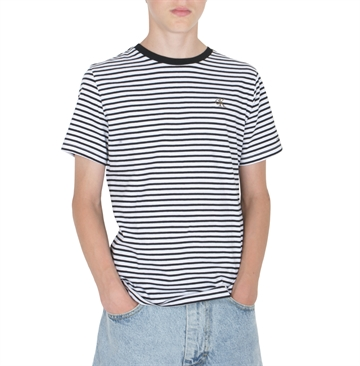 Calvin Klein T-shirt 00529 stripe White / Black