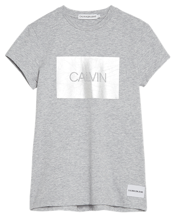 Calvin Klein Girls T-shirt Box Slim fit Light Grey 00186