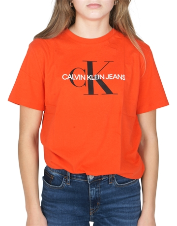 Calvin Klein  T-shirt Monogram Logo Red Orange G00022