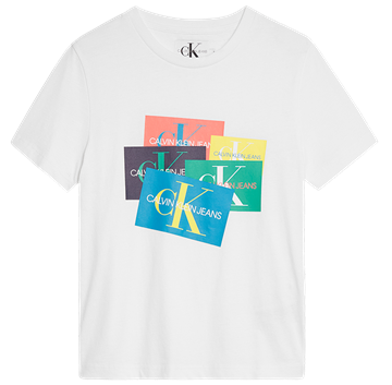 Calvin Klein Tee Monogram patch oco white