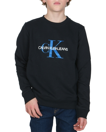 Calvin Klein Sweatshirt Monogram Logo Black Beauty 00059