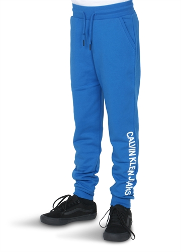 Calvin Klein Sweat Bukser Logo Terry Nautical Blue 00025