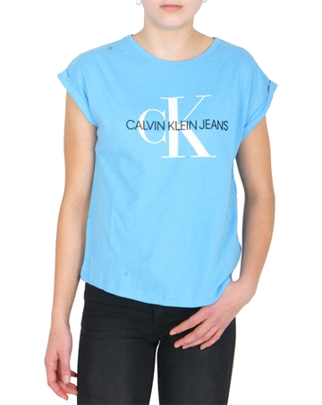 Calvin Klein T-shirt Loose Fit Monogram Logo Alaskan Blue 00143