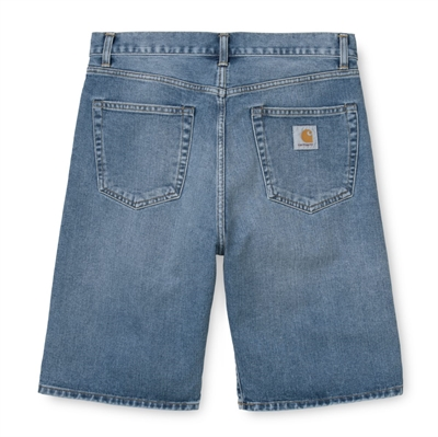 Carhartt Shorts Denim Pontiac Blue Mid Worn Wash