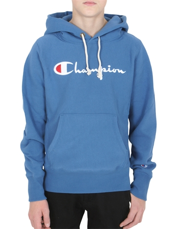 Champion Hoodie Big Script FEB 111555 denim blue