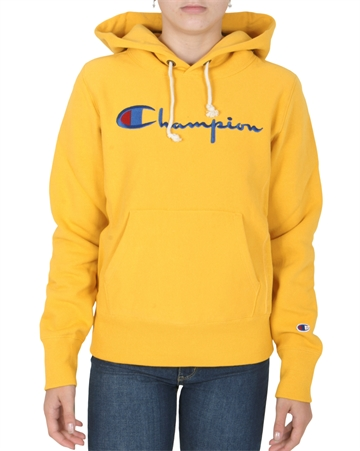 Champion Hoodie Big Script OLD Yellow 111555