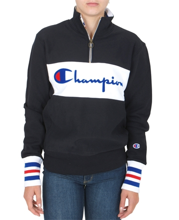 Champion Half Zip Sweat NBK/WHT