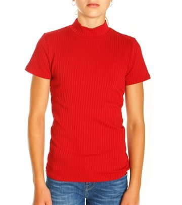 Costbart Girls Top Timian Rib 470 Red