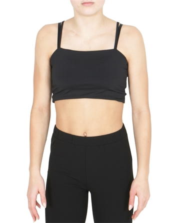 Costbart Top Ilona Cropped Tank Top Black
