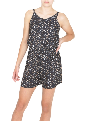 Costbart Girls Summer Jumpsuit Fleur Black