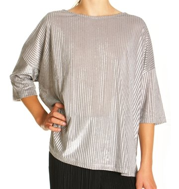LMTD Girls nitnahliass oversize grey top