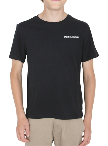 Calvin Klein Boys Chest Logo Tee Black