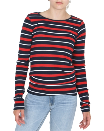 Grunt Girls Sif l/s Tee Night Blue/Red