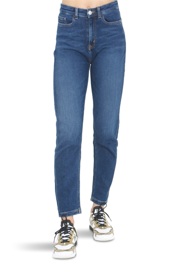 Calvin Klein Girls Relaxed Ankle Jeans Save Dark Stretch