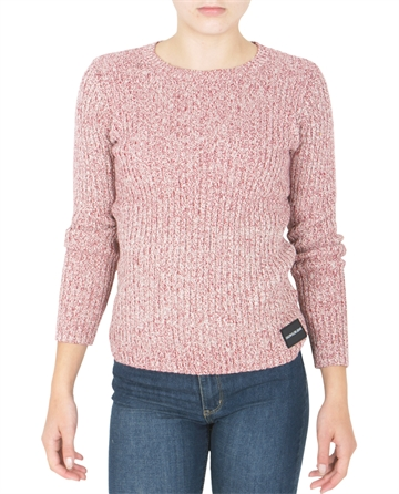 Calvin Klein Girls Lurex Rib sweater Rumba Red