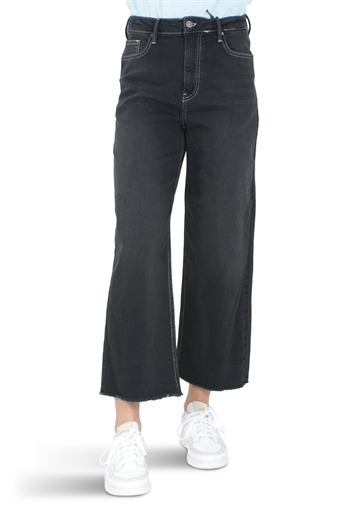 Grunt Jeans Ellie Wide Leg Clam Black