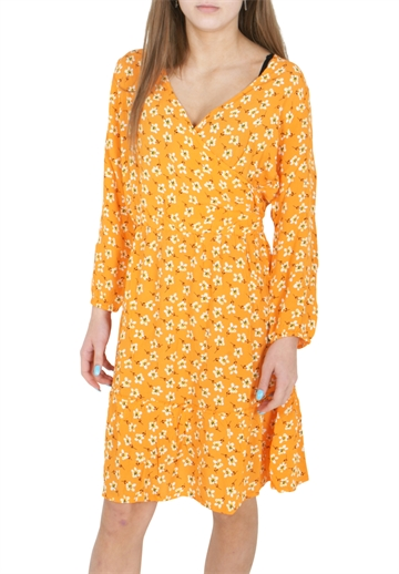 Costbart kjole Iluna Dress Turmeric AOP