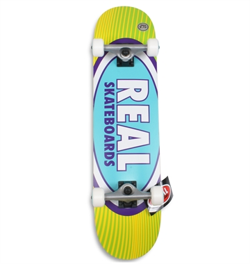 Real Complete Skateboard 7,75 Oval Rays