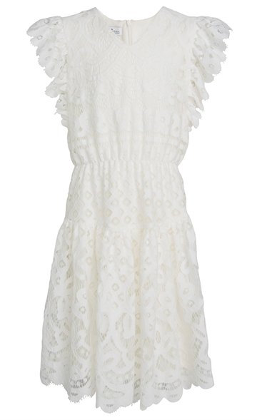 Little Remix Dress Audrey Ruffle Cream