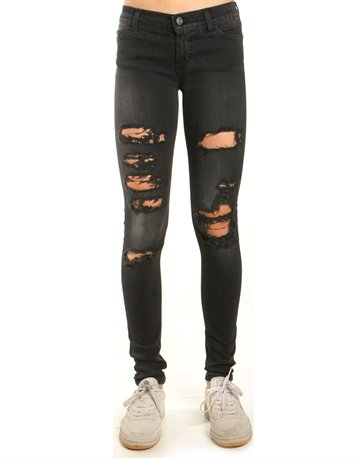 Little Remix Jeans New Moon Destroyed Black