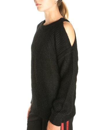 Little Remix Top knit Vicki Shoulder Black
