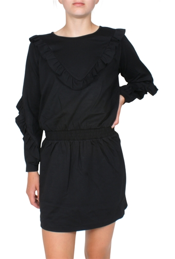 Little Remix Kjole Sandie Ruffle Black