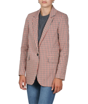 Little Remix Blazer Farina  Red / Navy Check