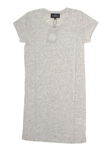 Little Remix Tee Dress Blos Light Grey Melange