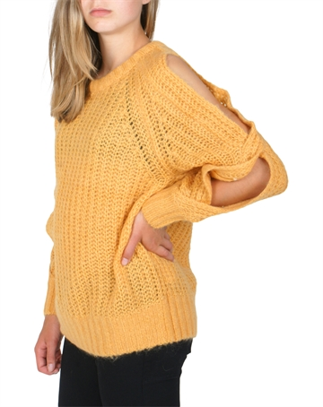 Little Remix Vicki Off Shoulder Mustard