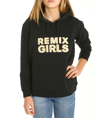 Little Remix Junior Pige Hoodie Black 13942