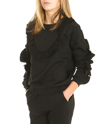 Little Remix Blouse Sandie Ruffle Black 13917