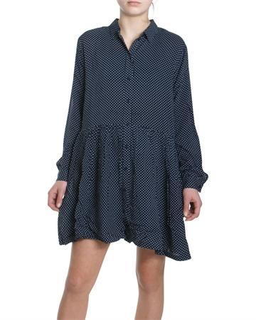 Little Remix Shirtdress Navy w. White dots 13875