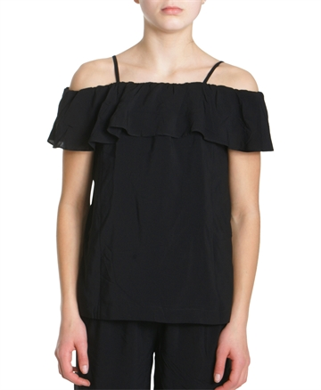 Little Remix Top Rion Ruffle Black 13948